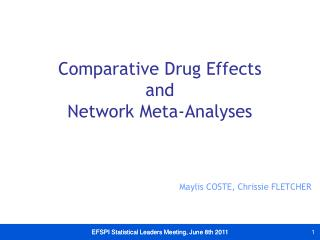 EFSPI Statistical Leaders Meeting, June 8th 2011