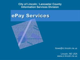 ePay Services