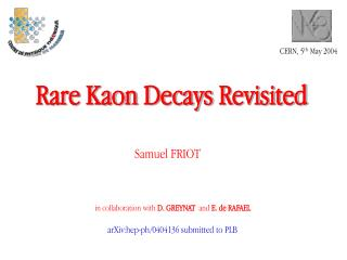 Rare Kaon  Decays Revisited