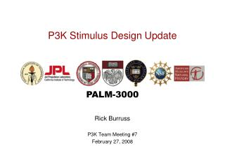 P3K Stimulus Design Update