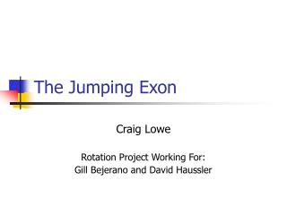 The Jumping Exon