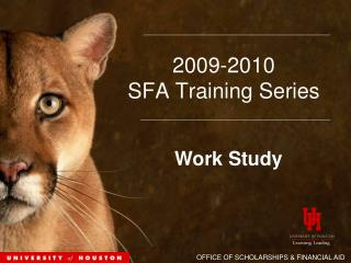 2009-2010  SFA Training Series