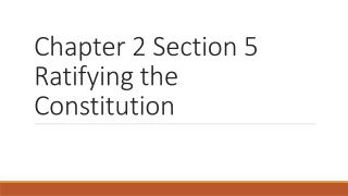 CHAPTER 2 U.S. CONSTITUTION