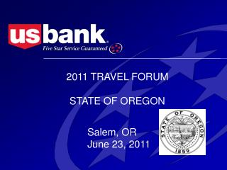 2011 TRAVEL FORUM STATE OF OREGON