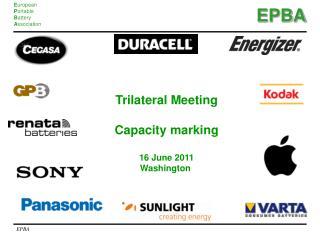 Trilateral Meeting Capacity marking 16 June 2011 Washington