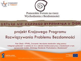 p rojekt Krajowego Programu Rozwiązywania Problemu Bezdomności .