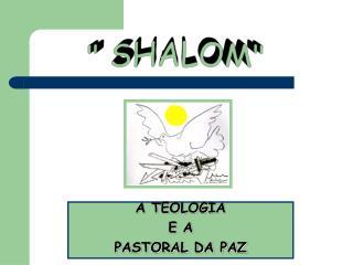 """"""" SHALOM"""""""