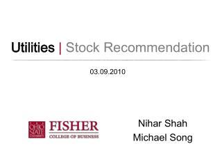 Utilities | Stock Recommendation