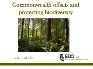 Commonwealth offsets and protecting biodiversity