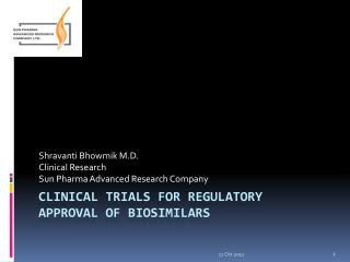 Clinical trials for regulatory approval of  biosimilars