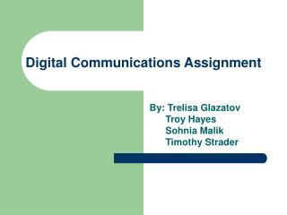 Digital Communications Assignment