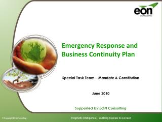Emergency Response and Business Continuity Plan