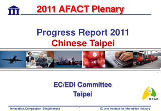 Progress Report 2011 Chinese Taipei