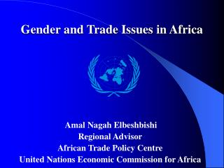 Gender and Trade Issues in Africa