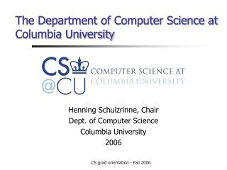 The Department of Computer Science at Columbia University