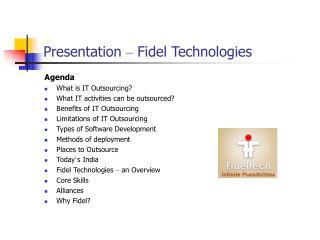 Presentation  �  Fidel Technologies