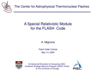 A Special Relativistic Module for the FLASH  Code