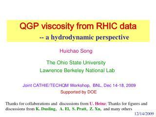 Joint CATHIE/TECHQM Workshop,  BNL, Dec 14-18, 2009