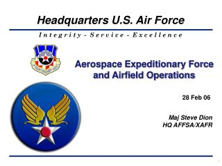 Aerospace Expeditionary Force and Airfield Operations