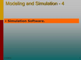 Simulation Software.