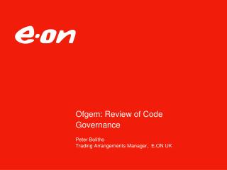 Ofgem: Review of Code Governance