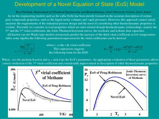 Development of a Novel Equation of State (EoS) Model