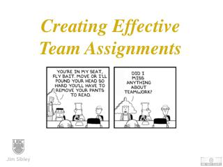 Creating Effective  Team Assignments