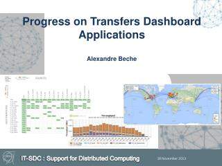 Progress on Transfers Dashboard Applications Alexandre Beche