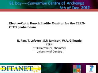 Electro-Optic  Bunch  Profile  Monitor for the CERN-CTF3 probe beam