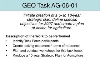 GEO Task AG-06-01