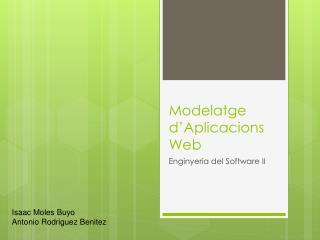 Modelatge d ' Aplicacions Web