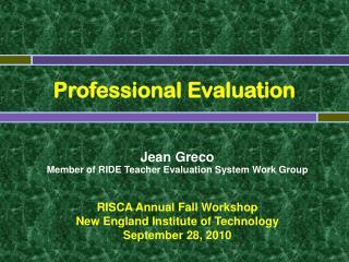 Professional Evaluation