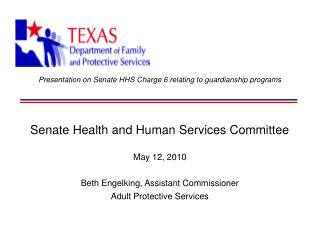 Presentation on Senate HHS Charge 6 relating to guardianship programs