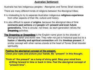Australian Settlement