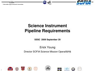 Science Instrument  Pipeline Requirements SSSC  2009 September 29