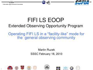 Martin Ruzek SSSC February 18, 2010