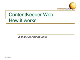 ContentKeeper Web How it works
