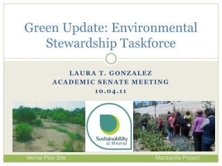 Green Update: Environmental Stewardship Taskforce