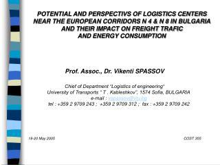 Prof. Assoc., Dr. Vikenti SPASSOV