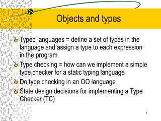 Objects and types