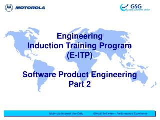 Engineering  Induction Training Program (E-ITP) Software Product Engineering Part 2