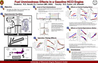 Fuel Unmixedness Effects in a Gasoline HCCI Engine