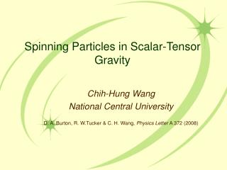Spinning Particles in Scalar-Tensor Gravity