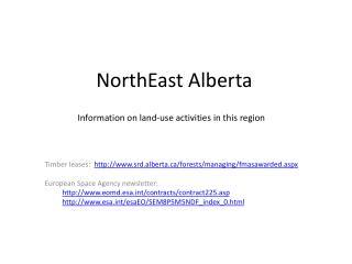 NorthEast Alberta