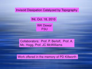 Inviscid Dissipation Catalyzed by Topography