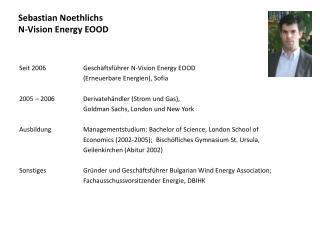 Sebastian  Noethlichs N-Vision  Energy  EOOD