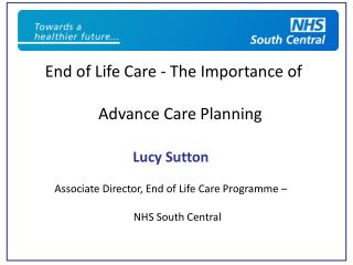 End of Life Care - The Importance of Advance Care Planning