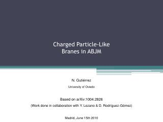 Charged Particle-Like Branes in ABJM