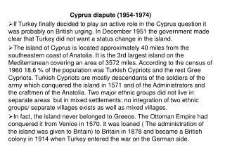 Cyprus dispute (1954-1974)