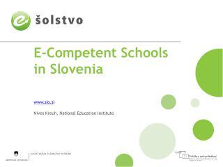 E-Competent Schools in Slovenia